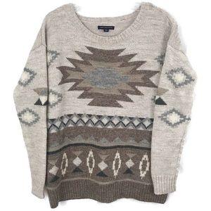 American Eagle Prescott Aztec Sweater Small